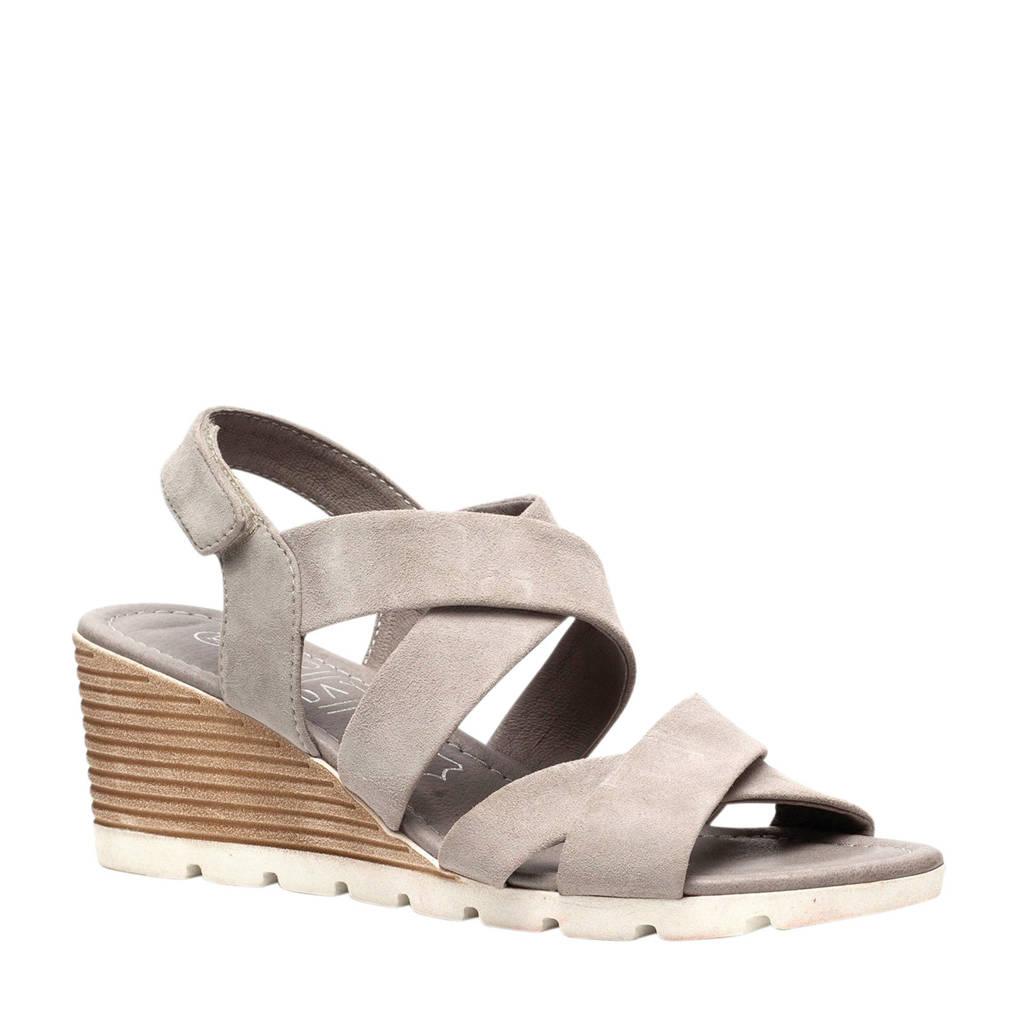 TwoDay suède sandalettes grijs, Grijs