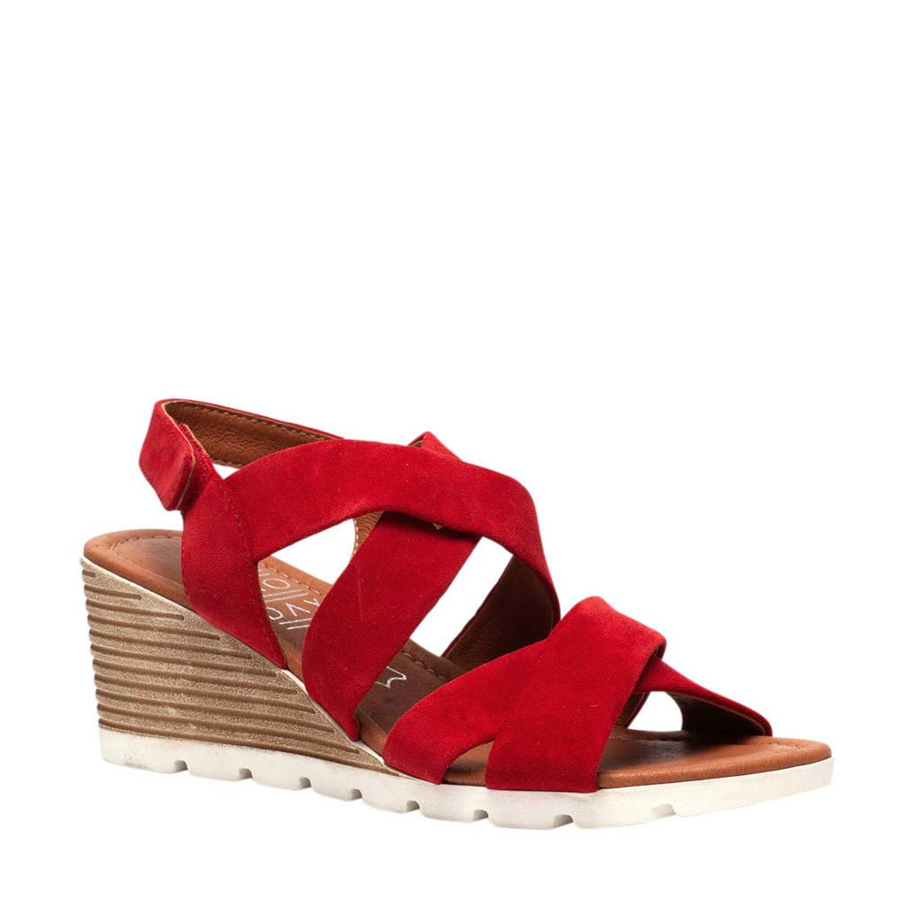 TwoDay suède sandalettes rood, Rood