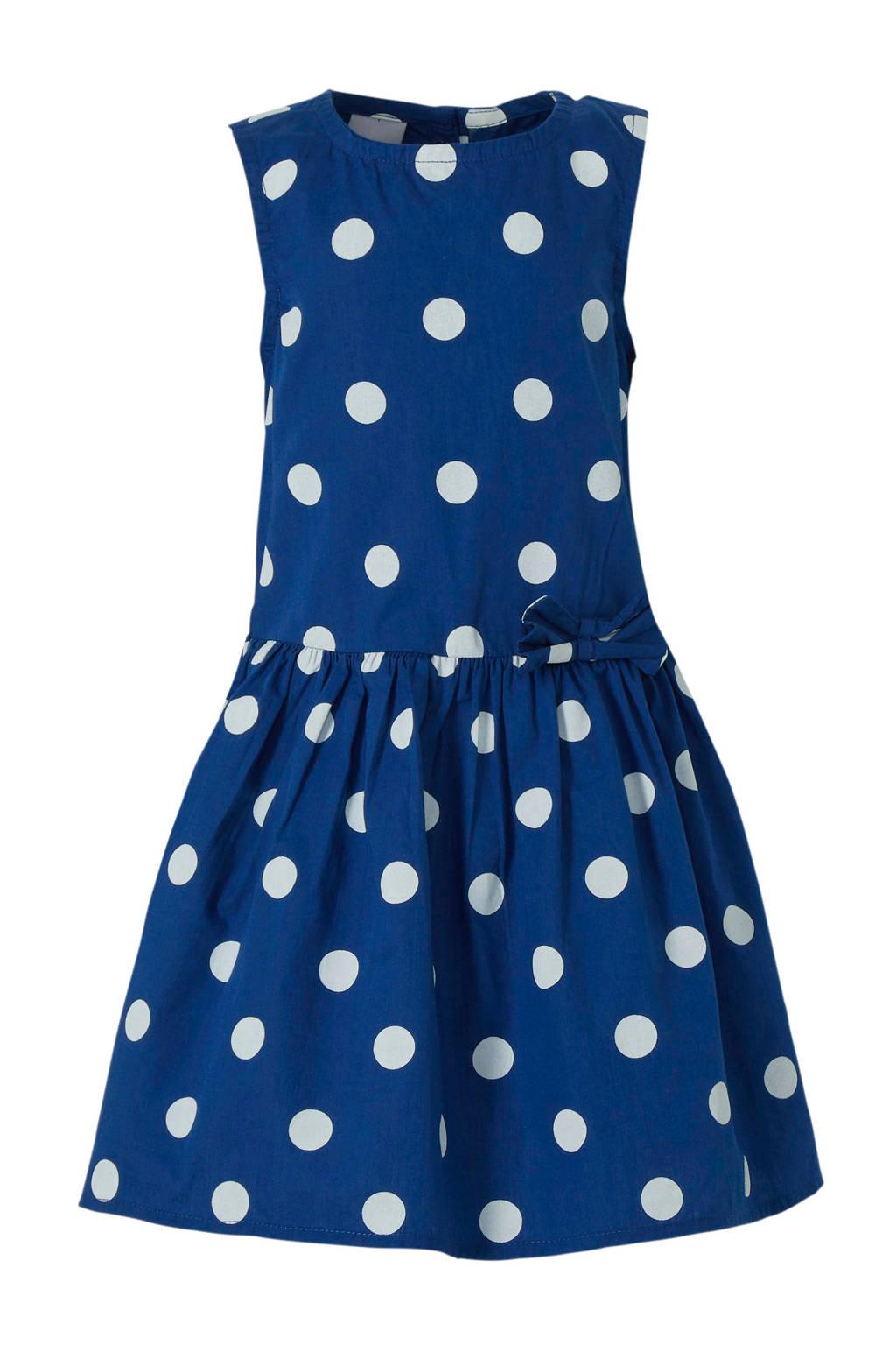 C&A Palomino jurk met stippen blauw, Blauw/wit