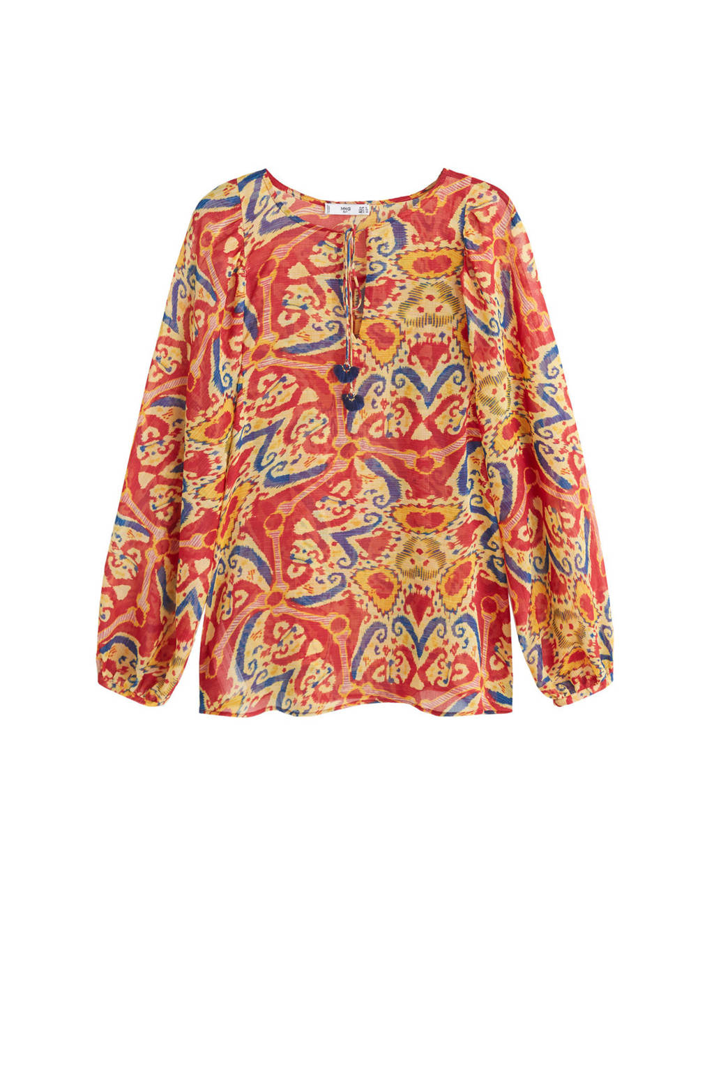 Mango top met all over print rood, Rood