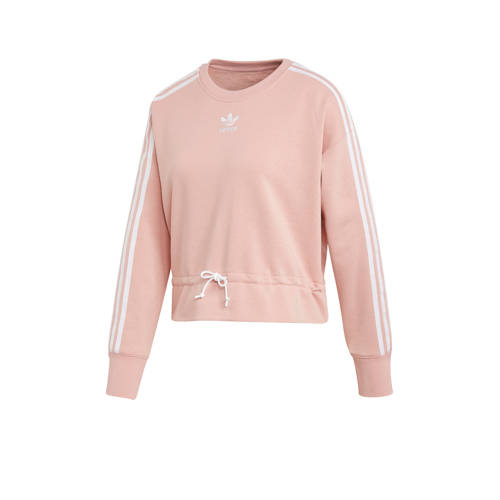 adidas originals cropped sweater roze
