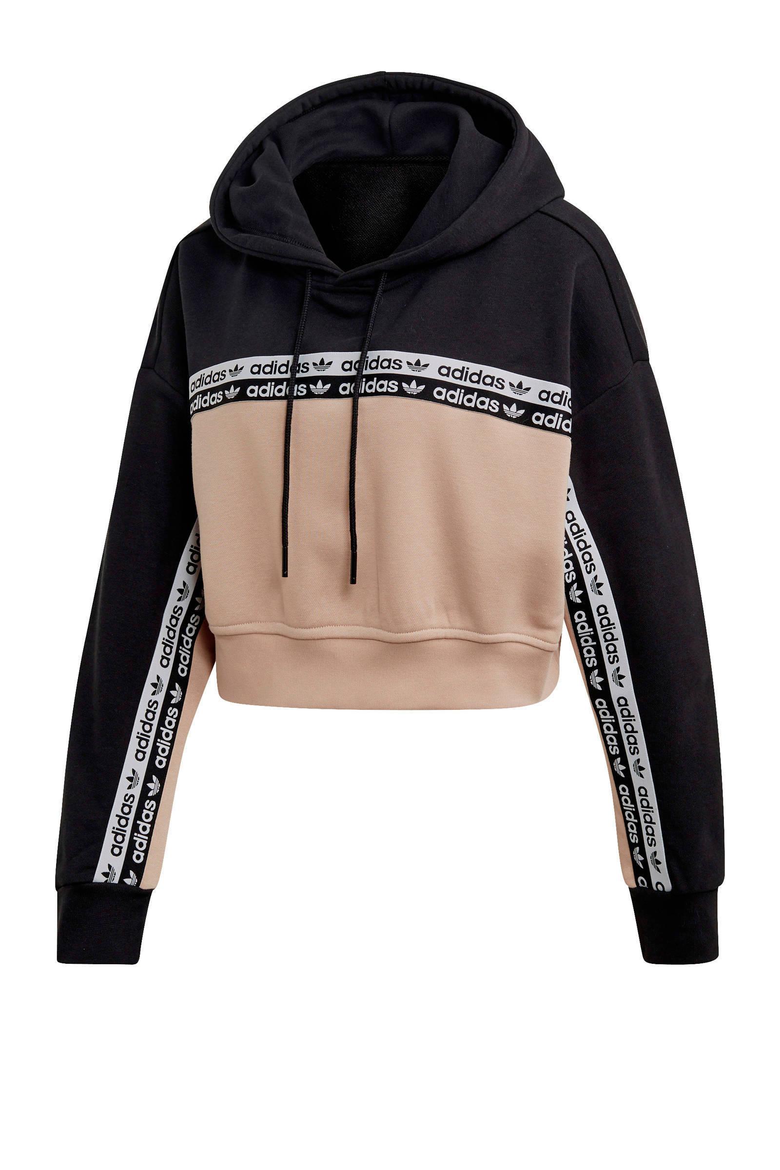 adidas Originals hoodie zwartoudroze   wehkamp