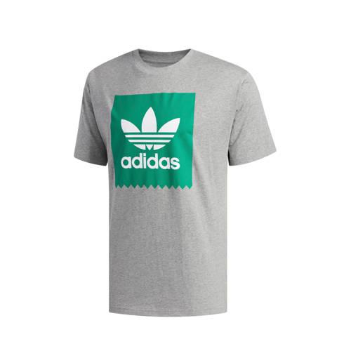 adidas originals T-shirt grijs melange-groen