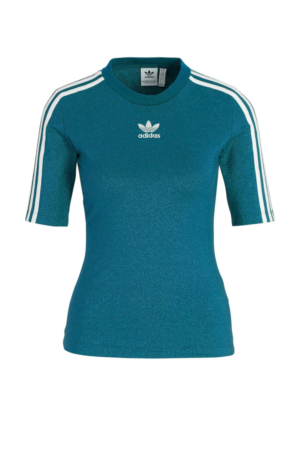 adidas Originals T-shirt petrol, Petrol/wit