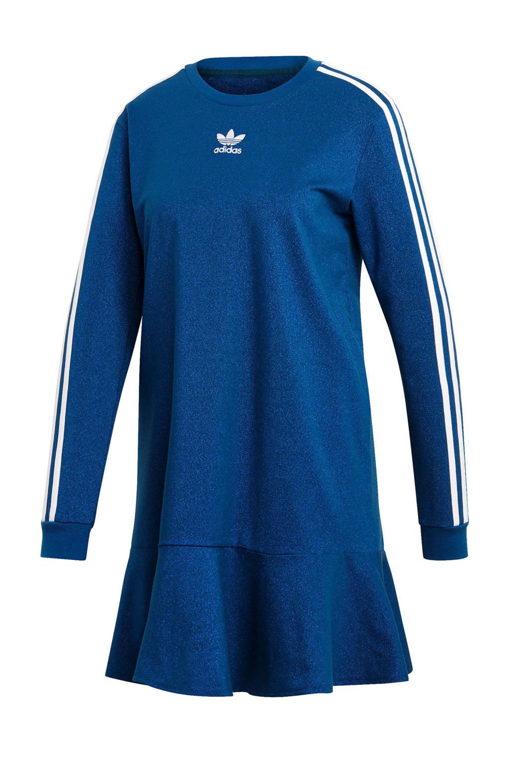adidas originals jurk, Blauw/wit