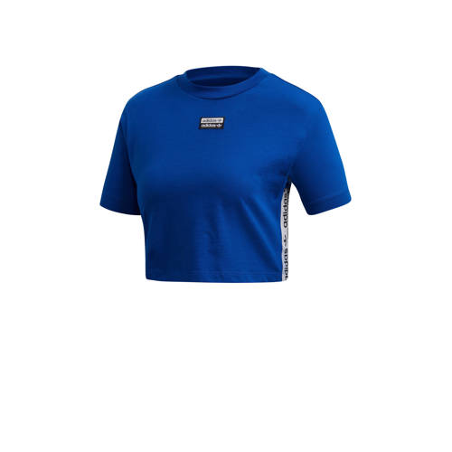 adidas originals cropped T-shirt blauw
