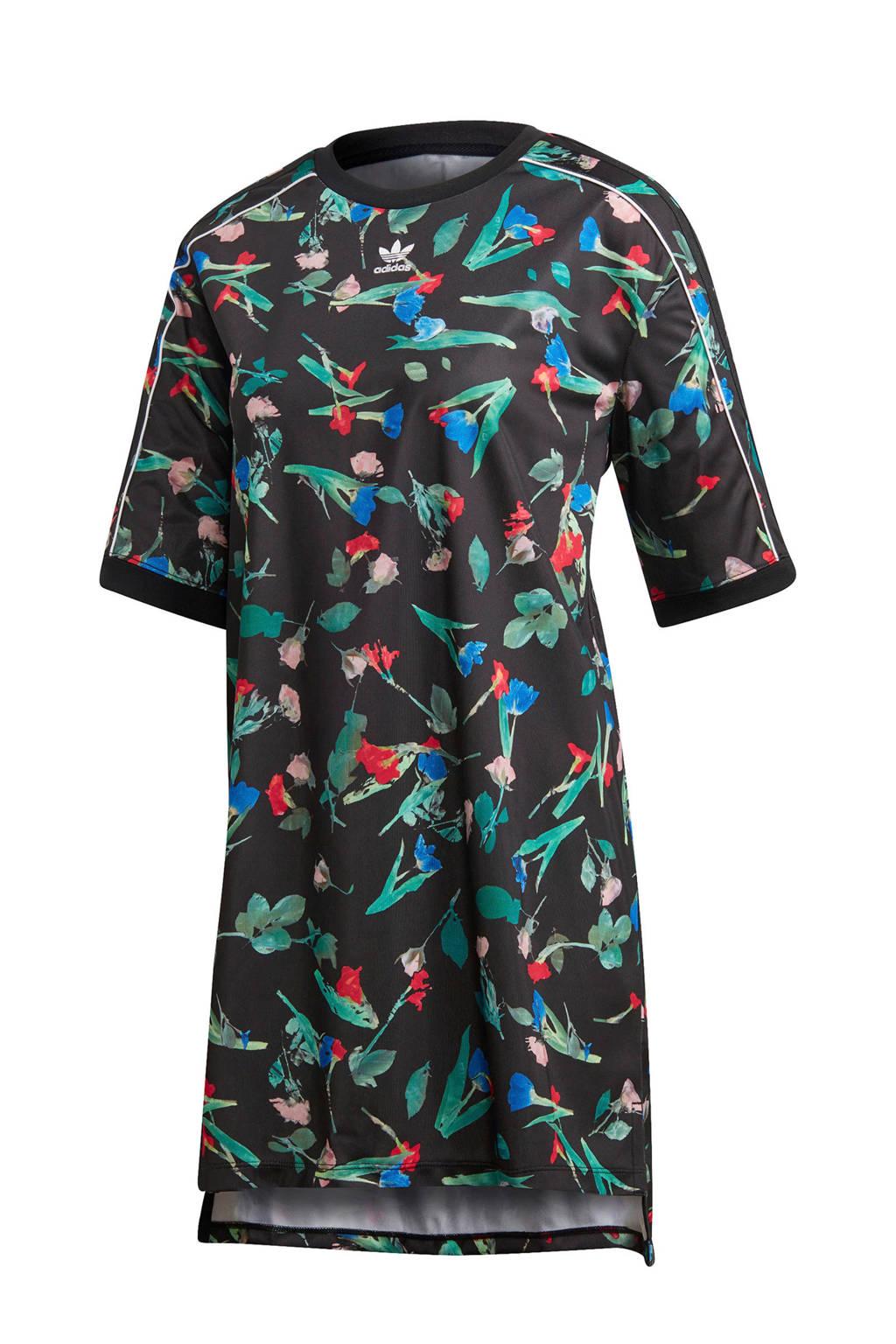 adidas originals jurk, Zwart/bloemen