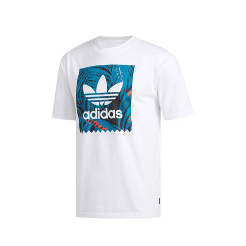 adidas originals T-shirt wit-blauw