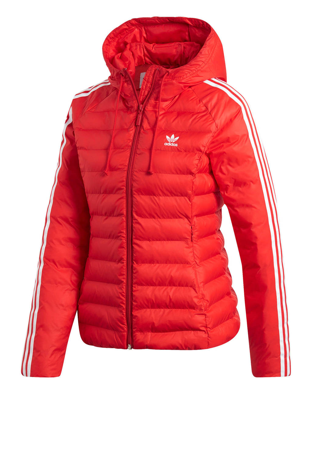 adidas originals winterjas rood, Rood/wit