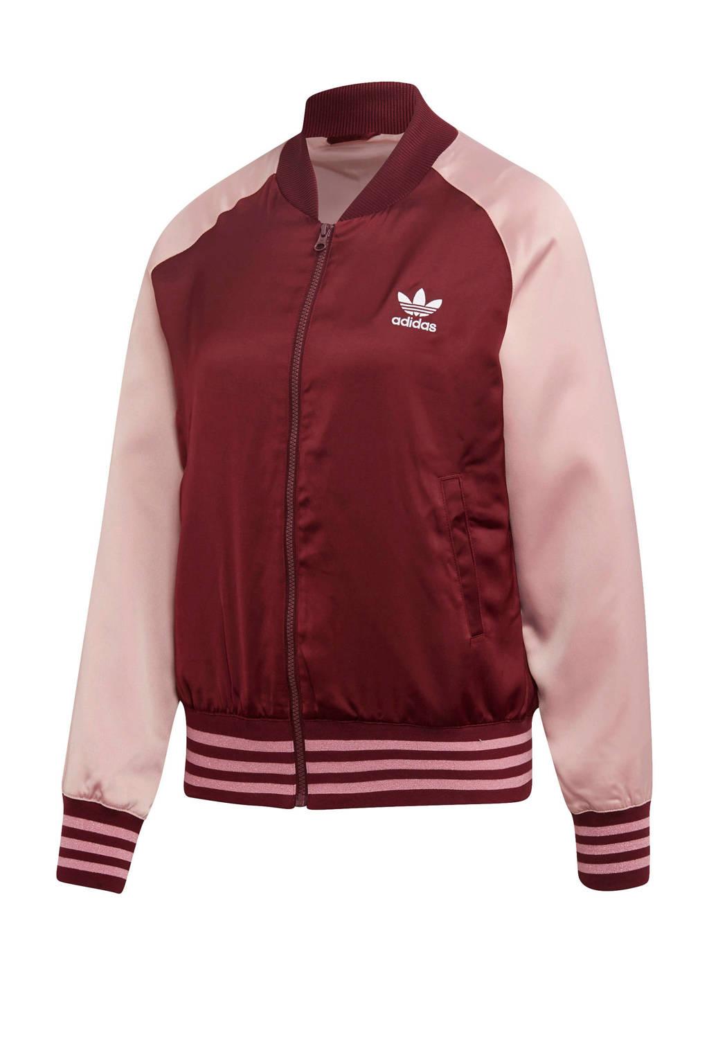 adidas originals vest donkerrood/roze, Donkerrood/roze