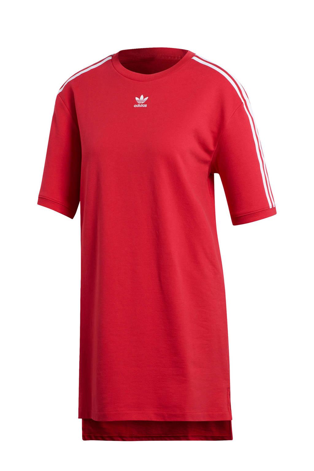 adidas originals T-shirtjurk rood/wit, Rood/wit