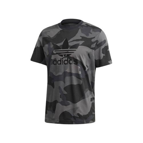 adidas originals T-shirt grijs camouflage