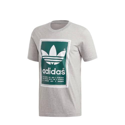adidas originals T-shirt grijs-groen