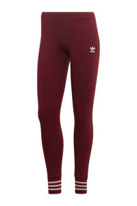 adidas Originals legging donkerrood, Donkerrood/wit