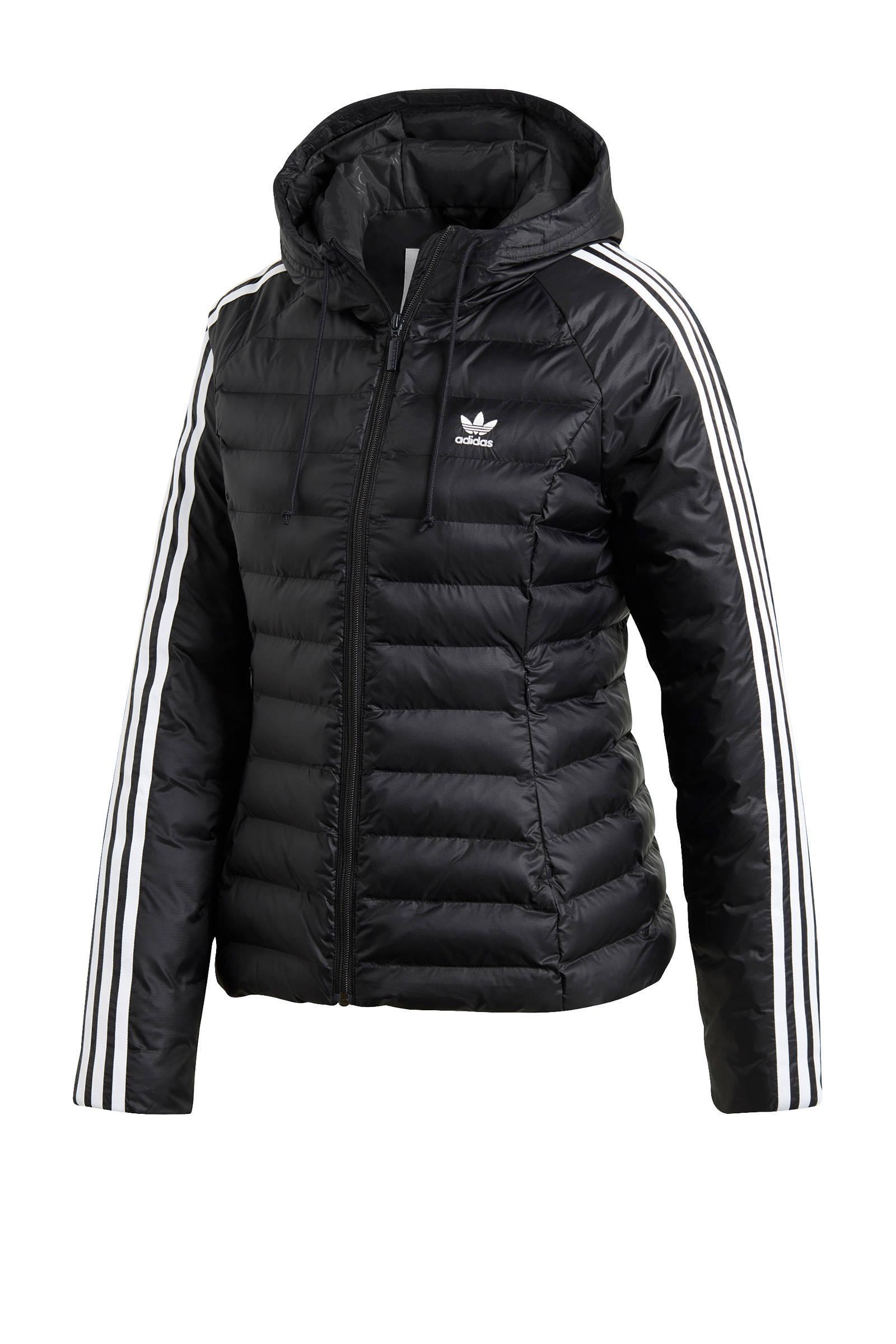 adidas Originals winterjas zwart | wehkamp