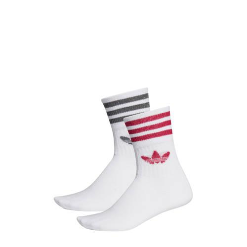 adidas originals sokken (set van 2) roze-grijs