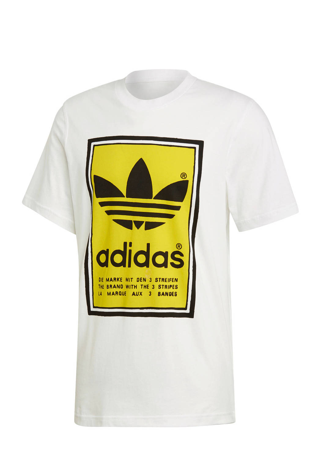 adidas Originals   T-shirt wit/geel, Wit/geel