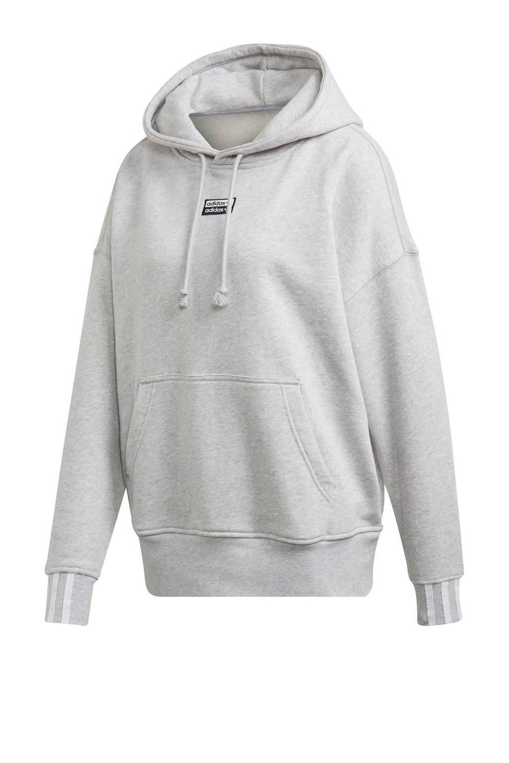 adidas Originals hoodie grijs melange, Grijs me