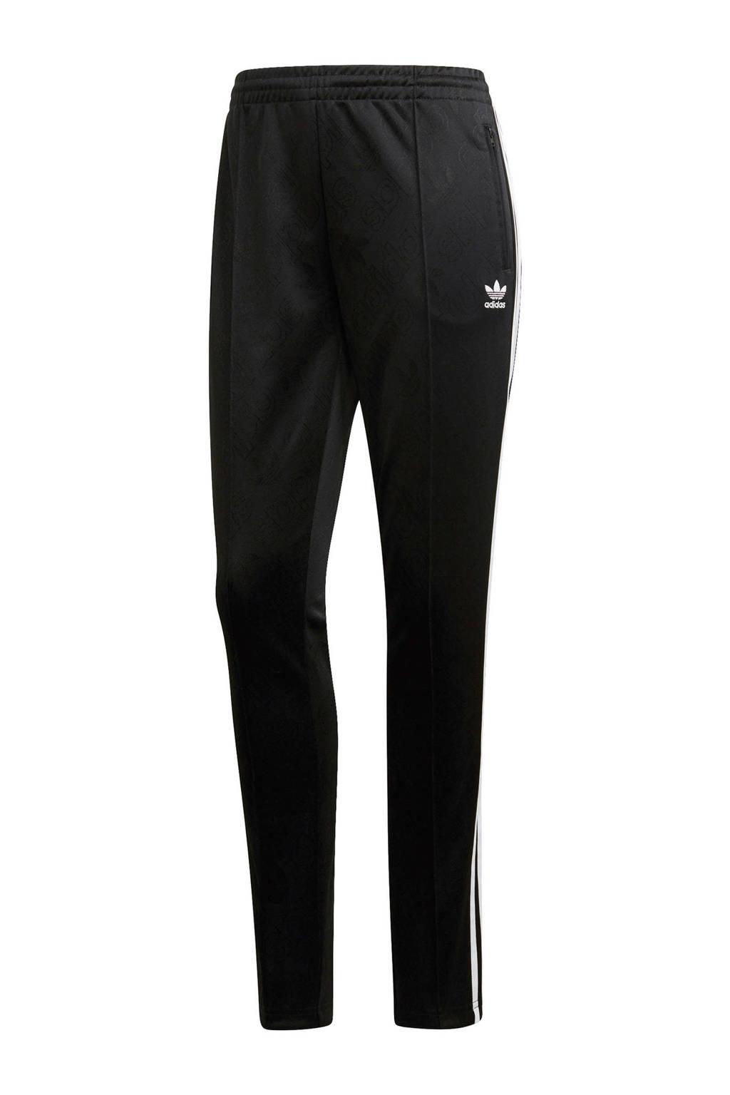 adidas originals regular fit joggingbroek zwart, Zwart