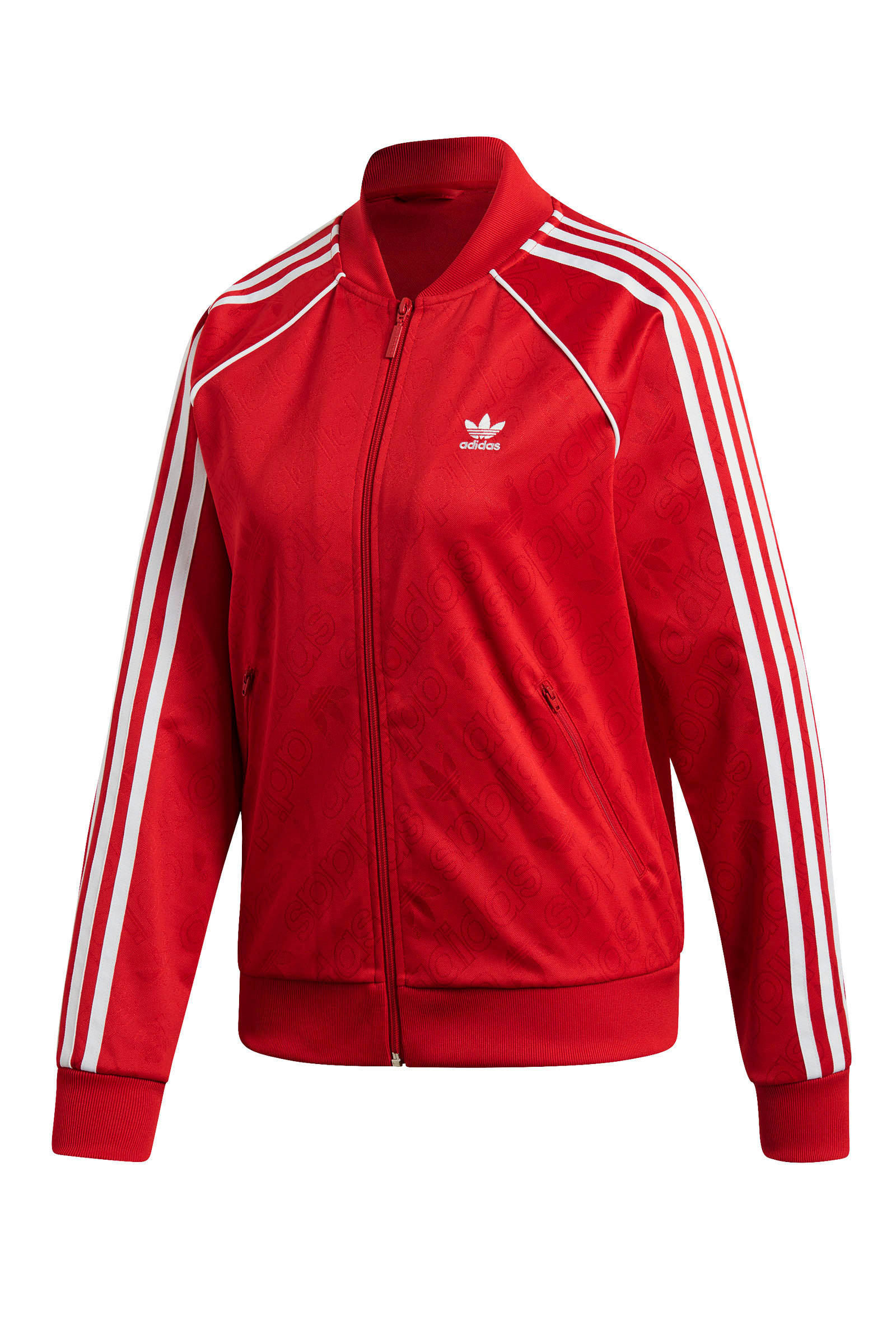 adidas Originals Adicolor vest rood   wehkamp