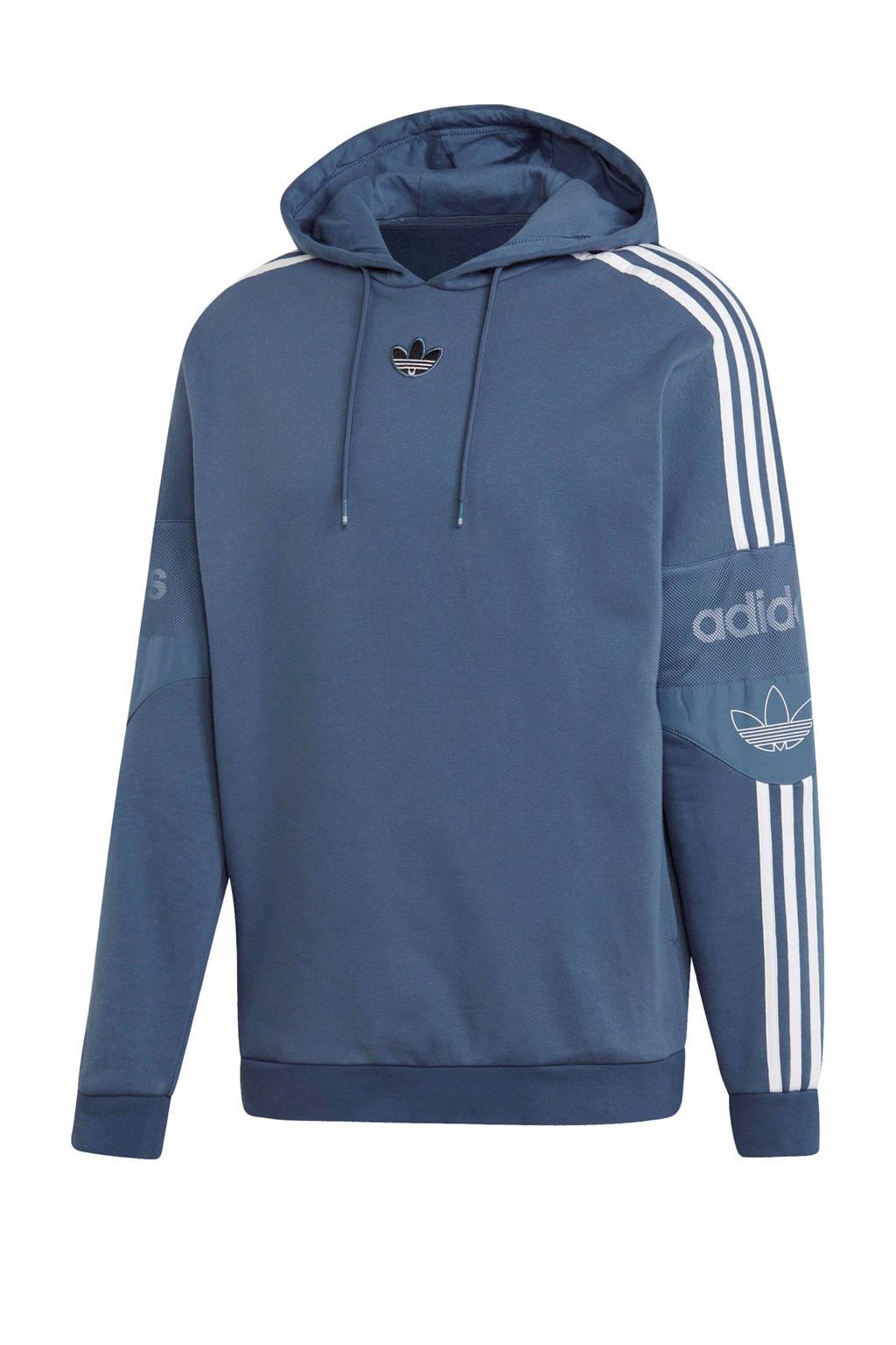 adidas Originals   hoodie grijsblauw, Grijsblauw/wit