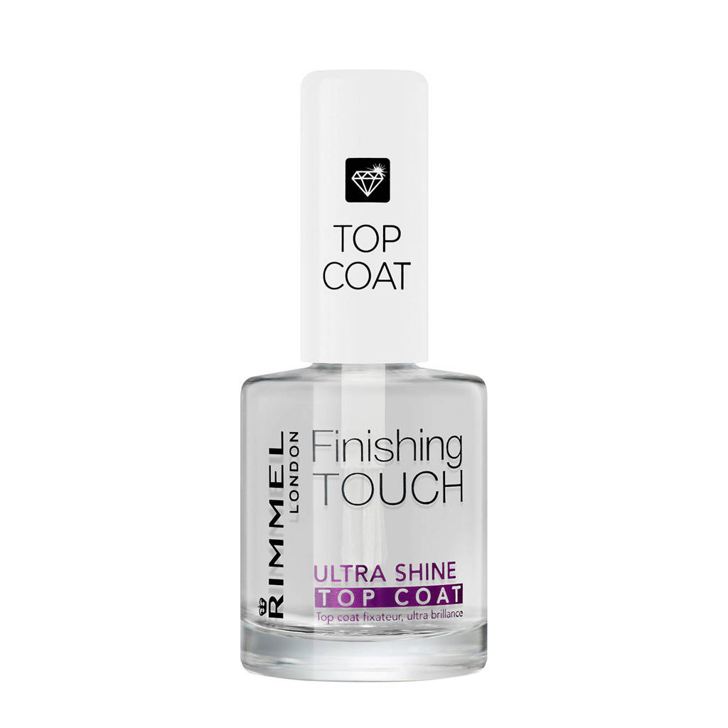 Rimmel London Finishing Touch Ultra Shine Topcoat - Transparent, Transparant