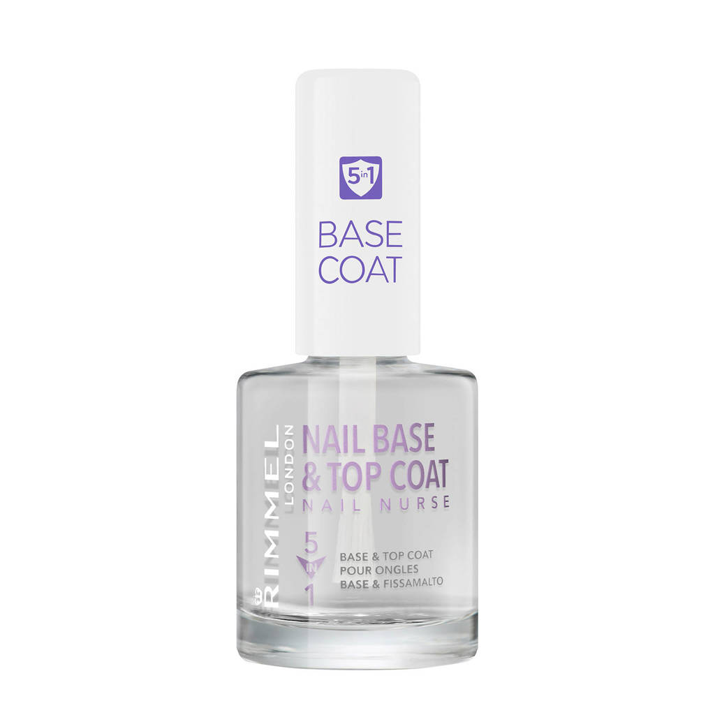 Rimmel London Nail Nurse Perfectional 5 in 1 base and topcoat - Transparent, Transparant