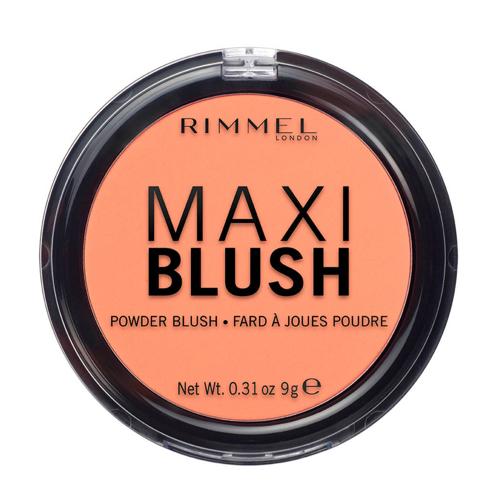 Rimmel London Maxi Blush - Cheeks Peach, 004 Cheeks Peach