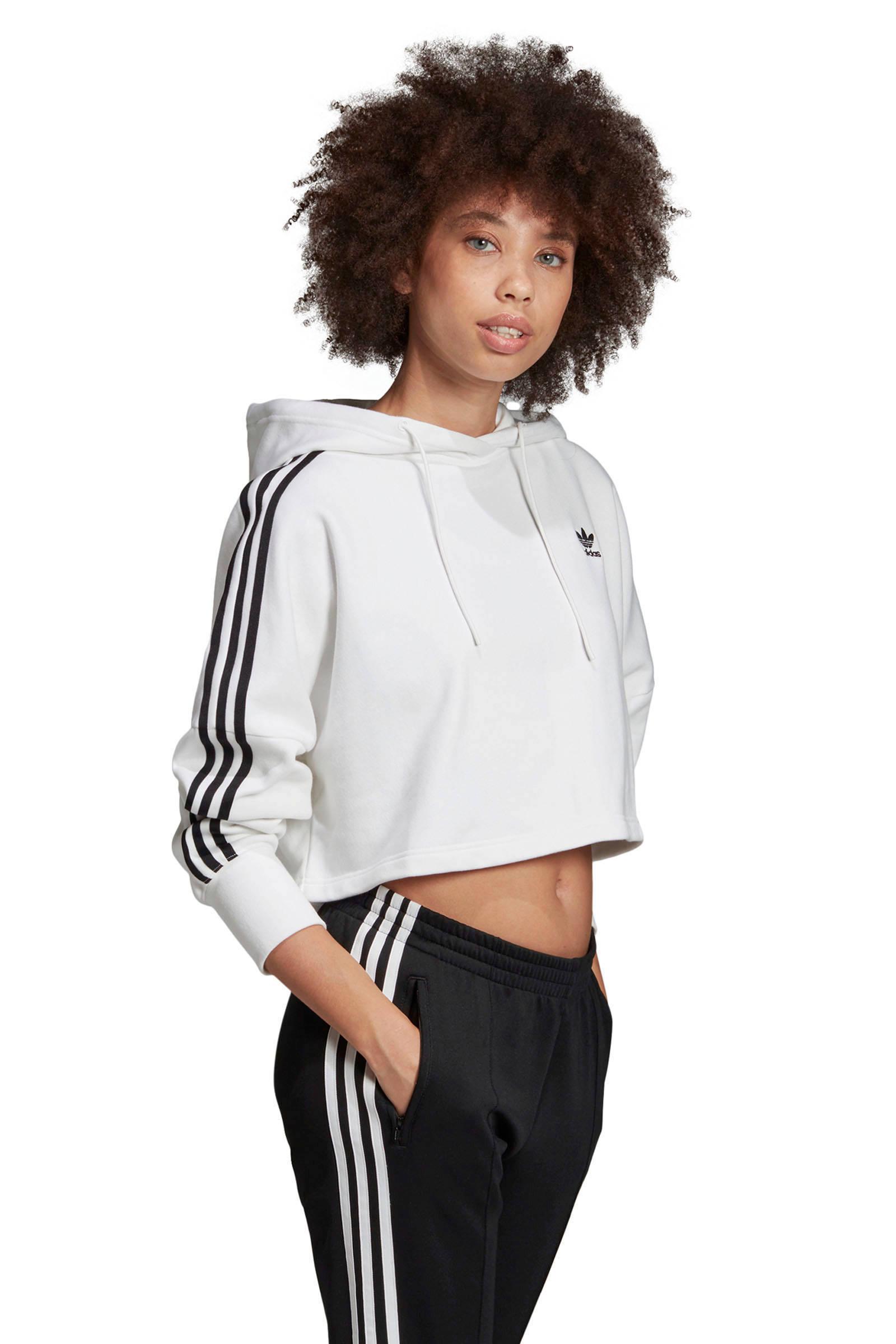 adidas Originals Adicolor cropped sweater witzwart   wehkamp