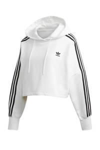 adidas Originals Adicolor cropped hoodie wit/zwart, Wit/zwart