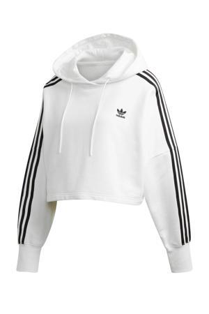 Adicolor cropped hoodie wit/zwart