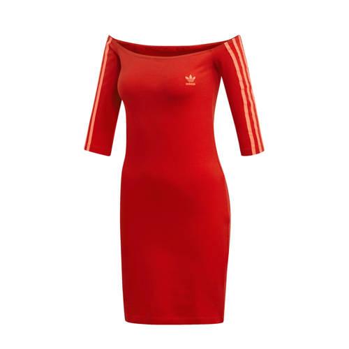 adidas originals Adicolor jurk rood
