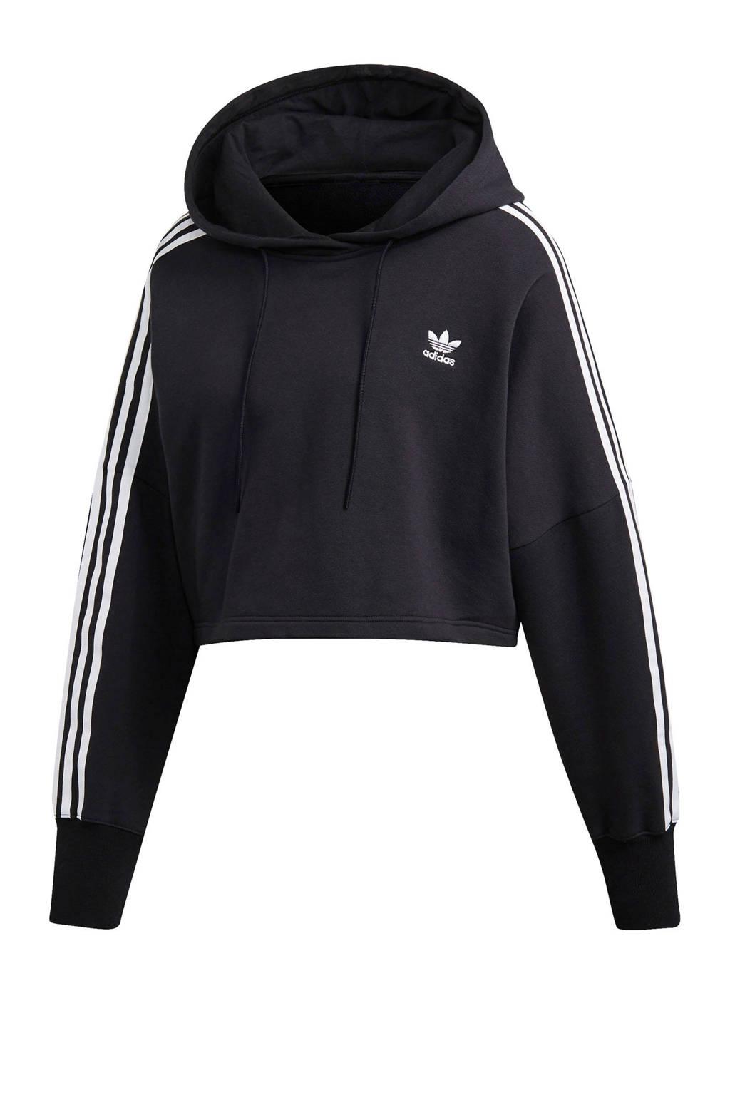 adidas Originals Adicolor cropped sweater zwart/wit, Zwart/wit