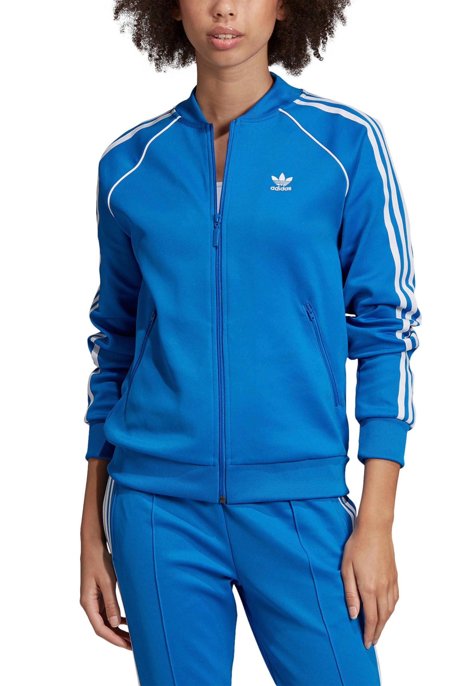 blauw adidas vest dames
