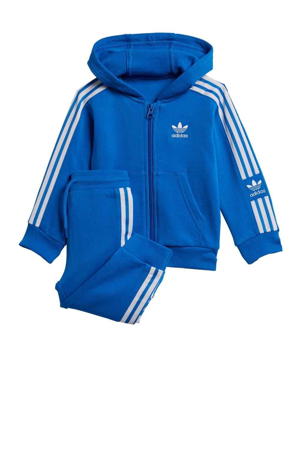 adidas originals   joggingpak blauw, Blauw/wit