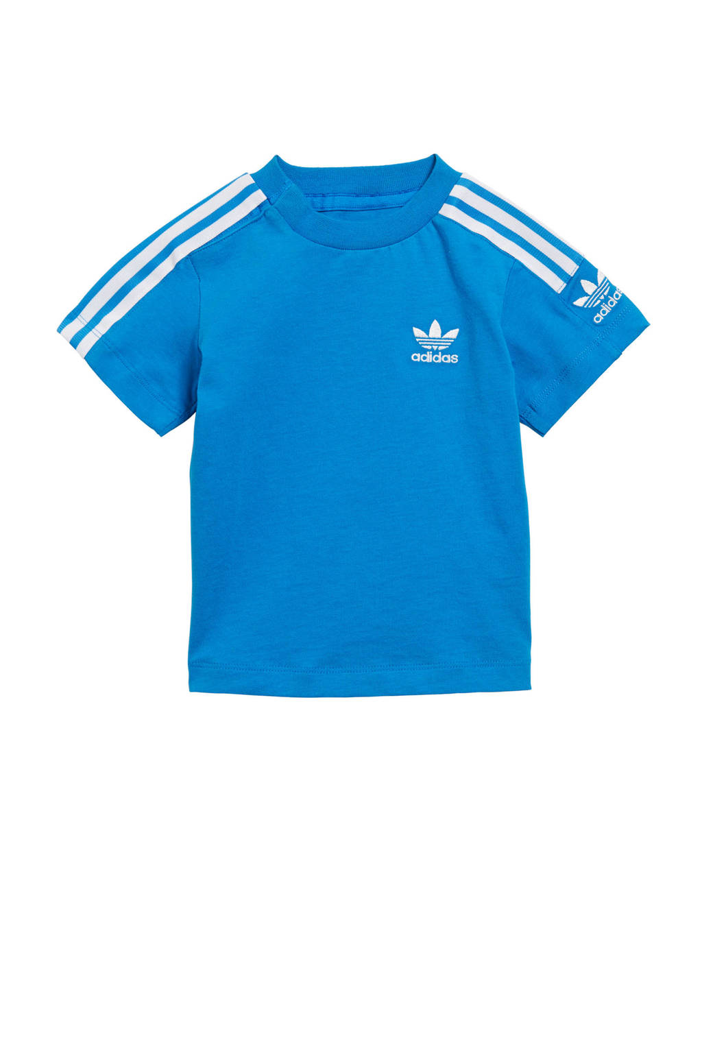 adidas originals T-shirt blauw, Blauw/wit