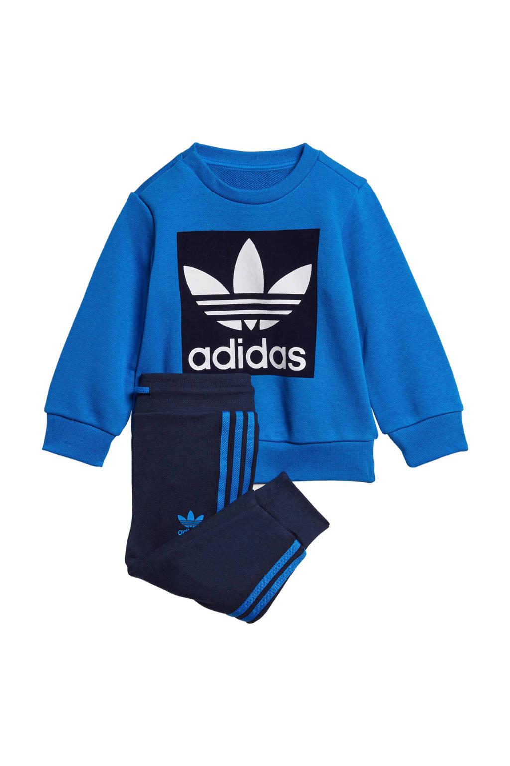 adidas Originals   joggingpak blauw/donkerblauw, Donkerblauw/blauw/wit