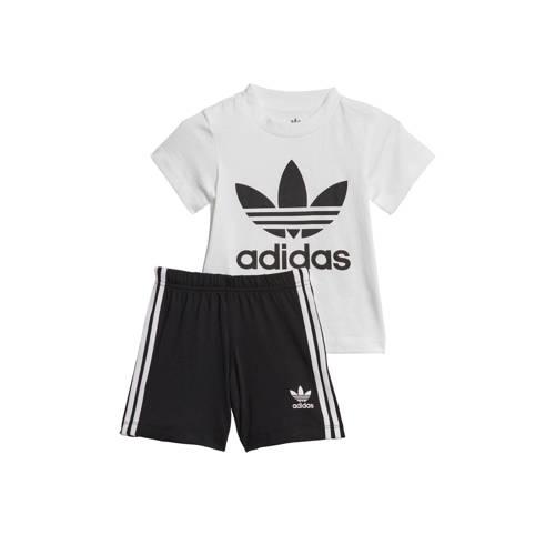 adidas originals T-shirt + short zwart-wit