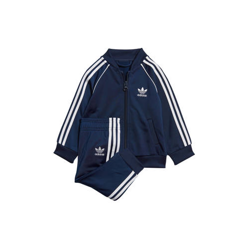 adidas originals trainingspak donkerblauw