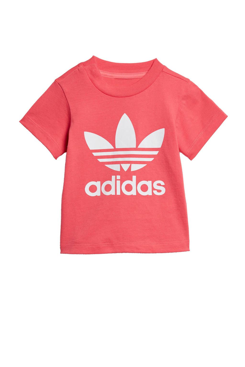 adidas originals Adicolor T-shirt roze, Roze/wit