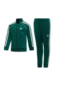 adidas Originals   Adicolor trainingspak groen, Groen/wit