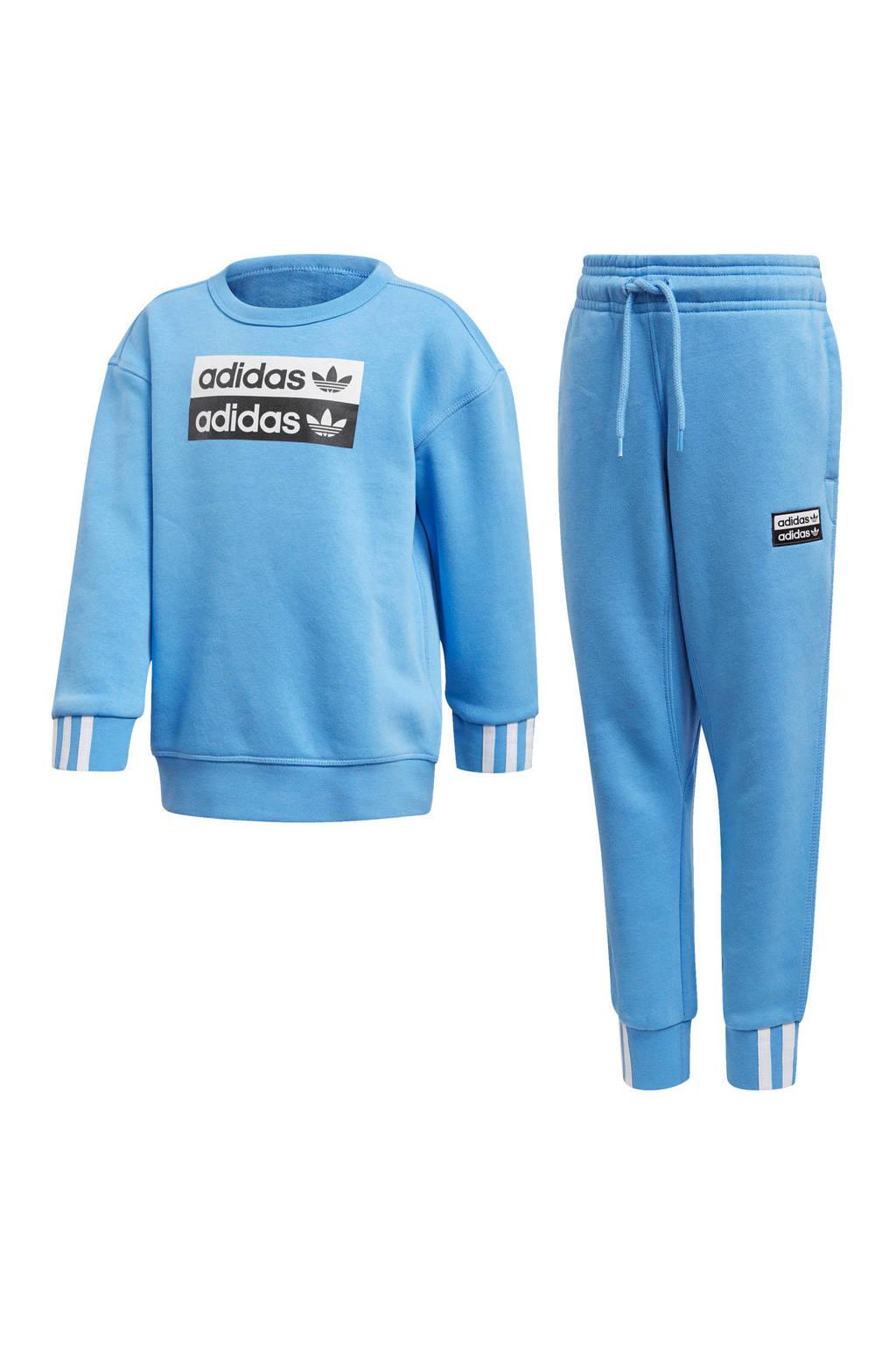adidas originals   joggingpak lichtblauw, Lichtblauw
