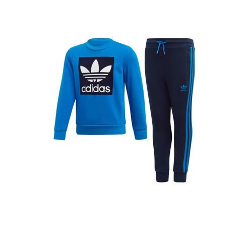 adidas originals trainingspak blauw