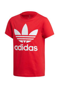 adidas Originals Adicolor T-shirt rood, Rood/wit