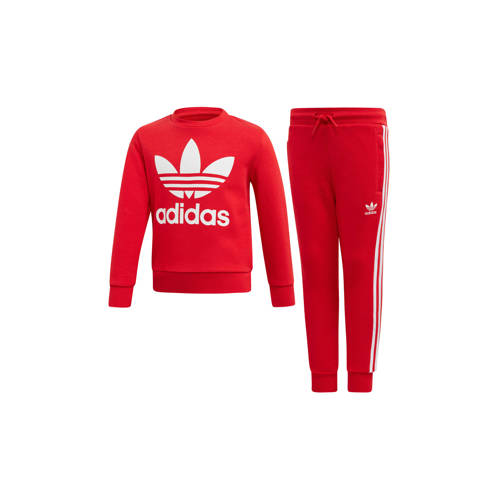 adidas originals trainingspak rood