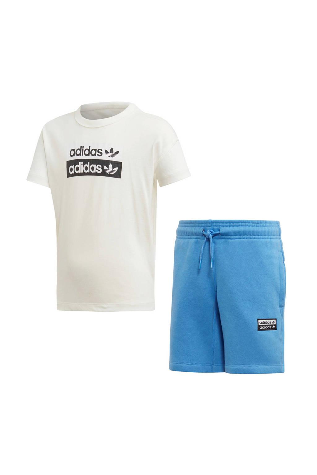 adidas originals   trainingspak wit/blauw, Wit/blauw