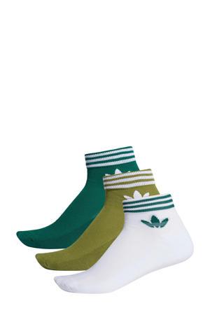 Adicolor enkelsokken (set van 3) groen/wit