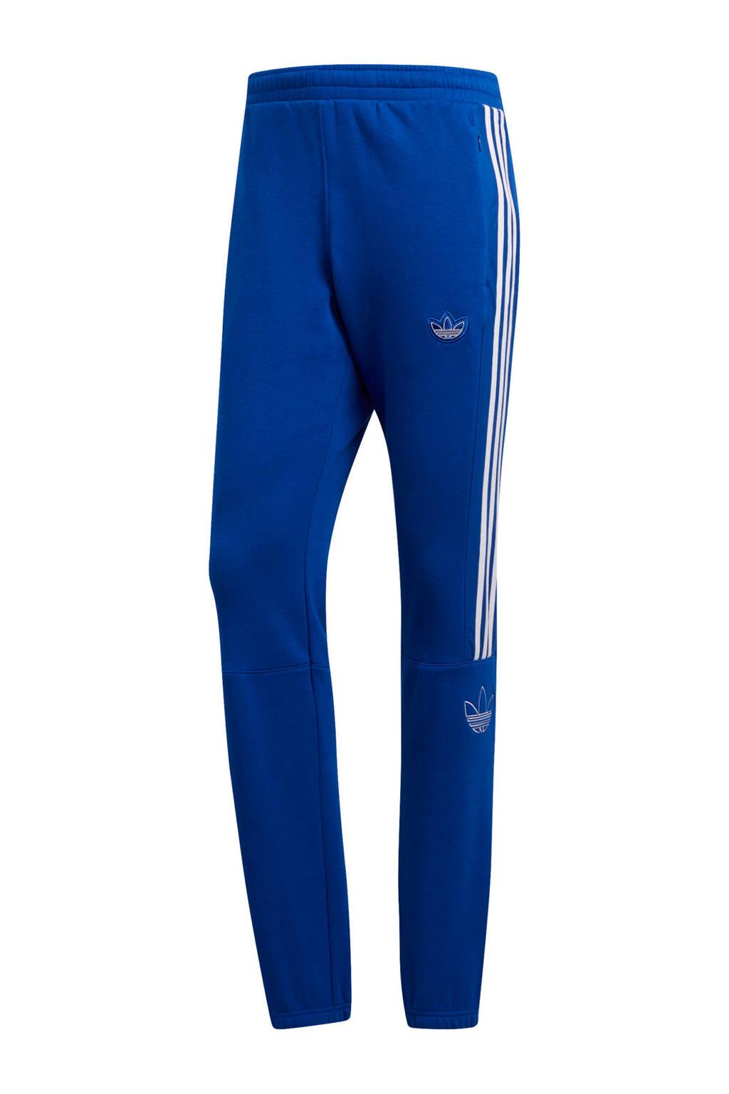 adidas originals jogginbroek blauw, Blauw/wit
