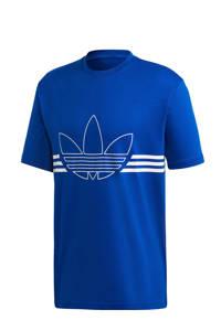 adidas Originals   T-shirt blauw, Blauw