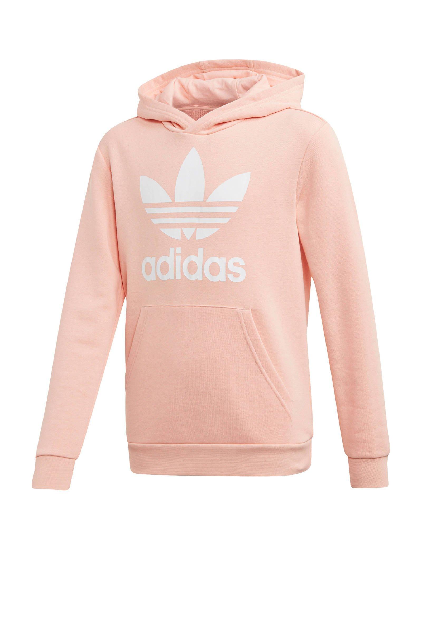 adidas Originals Adicolor hoodie roze   wehkamp